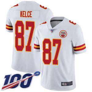 Kansas City Chiefs Travis Kelce 100th Season Jerse